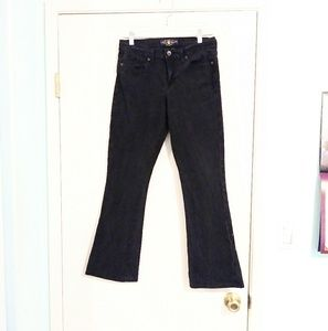 Lucky Brand Black Sophia Boot Cut Mid Rise Jeans